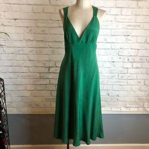 Emerald green sweetheart empire dress